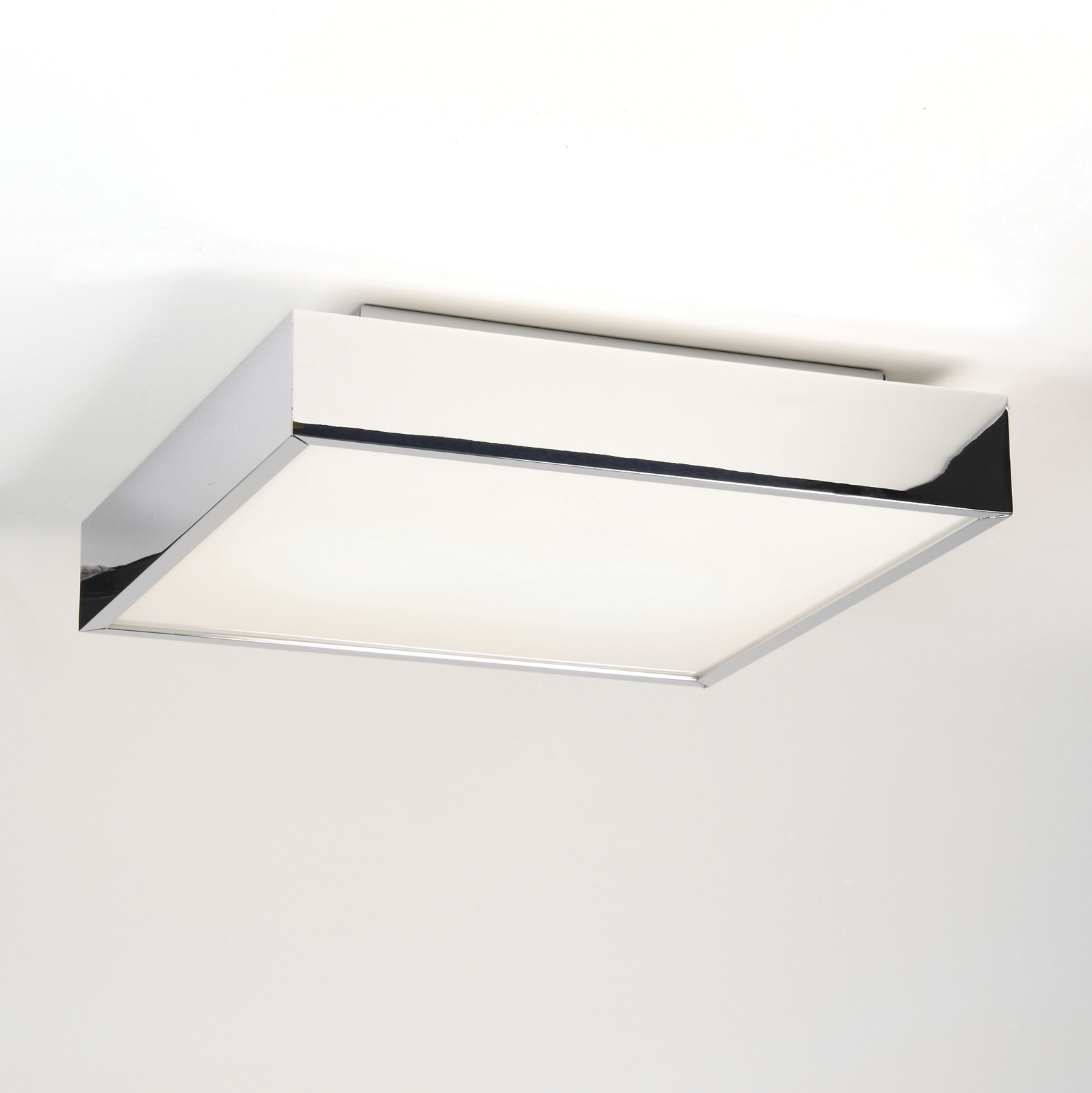led square bathroom ceiling light 17 7w polished chrome ip44 ebay