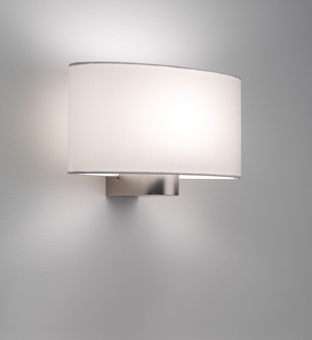 Lamp Shades Wall Lamps : Astro Napoli 0881 oval lampshade wall light 60W E27 matt nickel shade options eBay