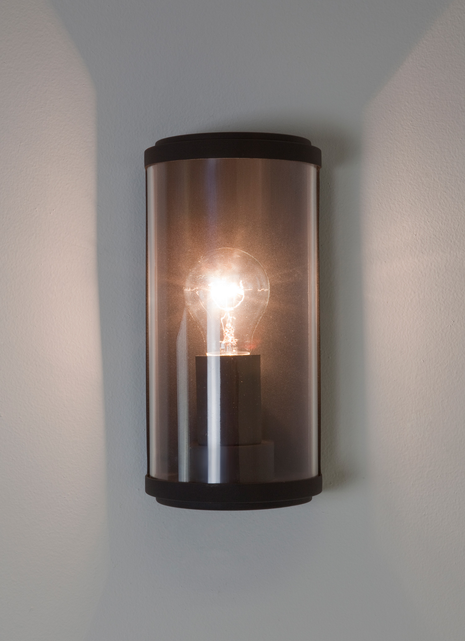 Astro Paros IP44 outdoor external wall light 60W E27 lamp black clear glass eBay
