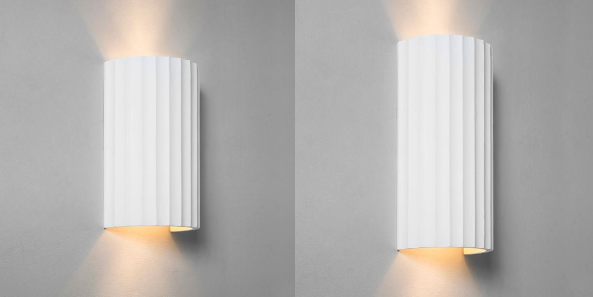 Plaster Wall Lights Up Down : Astro Kymi plaster up down wall lights 2x50W white eBay
