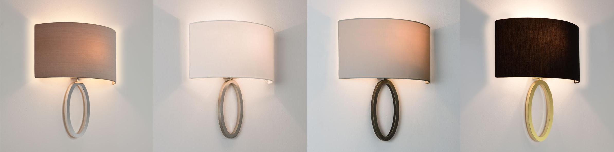 Astro Lima fabric shade stylish wall light 60W E27 eBay