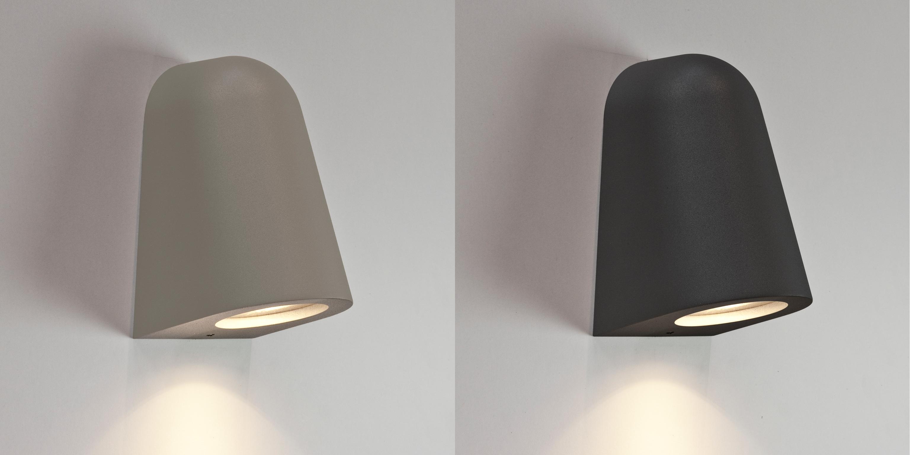 Halogen Exterior Wall Lights : Astro Mast IP65 halogen outdoor exterior wall lights down 35W GU10 silver black eBay