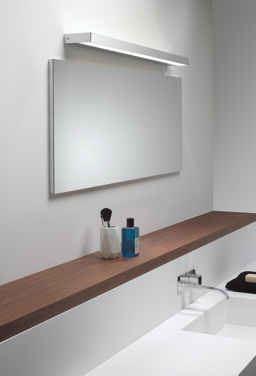 astro axios led ip44 bathroom wall light mirror light up down polished