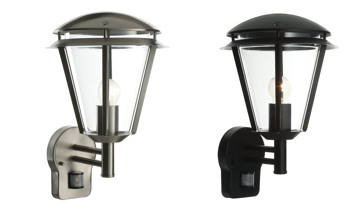 External Wall Lights Pir : Saxby Inova IP44 porch PIR modern external wall light 60W E27 eBay