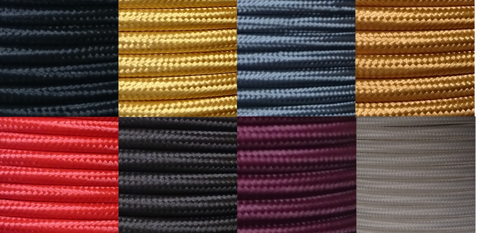 3 core 0 75mm round braided fabric electrical lighting flex cable per metre