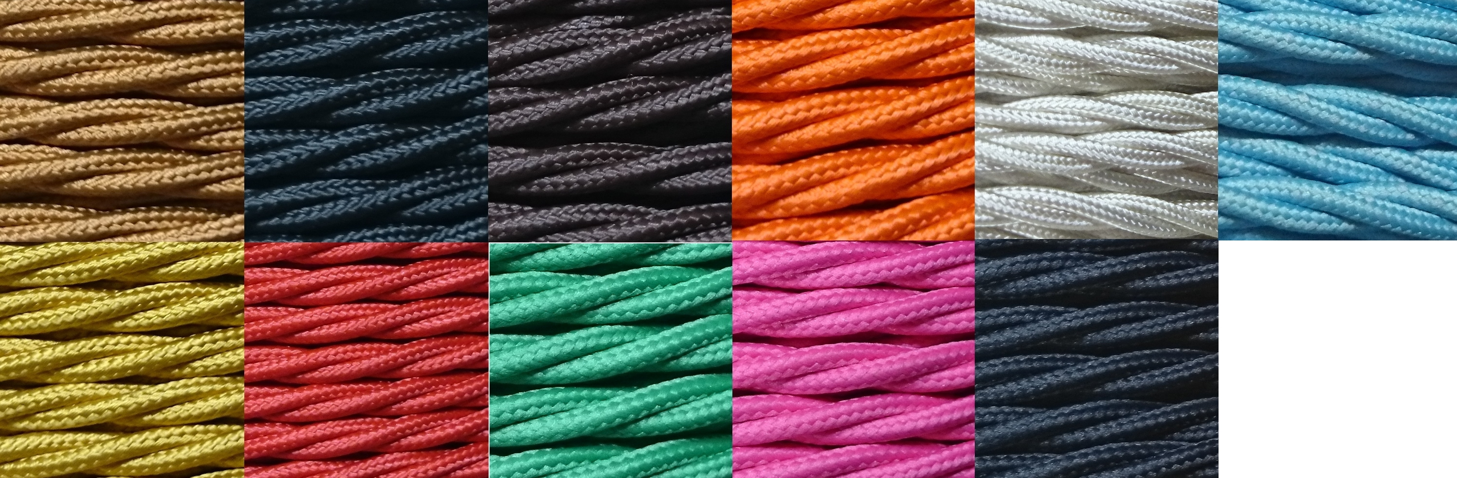 3 Core 0 75mm Twisted Braided Fabric Electrical Lighting