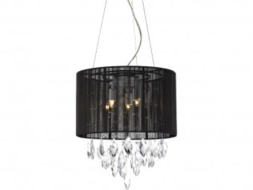 tp24 piccadilly sudbury 5x3w led pendentif noir abat jour lumi re plafond ebay. Black Bedroom Furniture Sets. Home Design Ideas