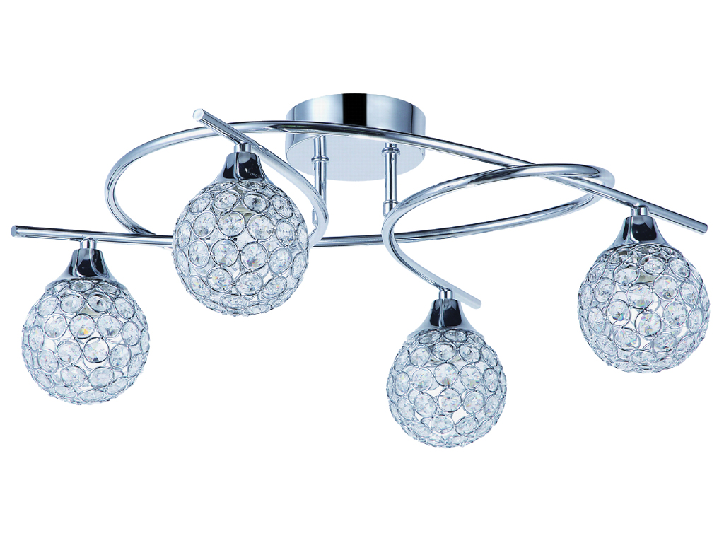 tp24 piccadilly osterley 4x3w led chrome ronde lumi re plafond ebay. Black Bedroom Furniture Sets. Home Design Ideas