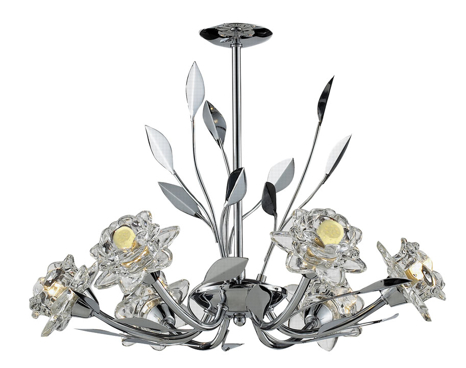 Tp24 piccadilly covent garden 6x3w led pendentif chrome for Guirlande jardin led