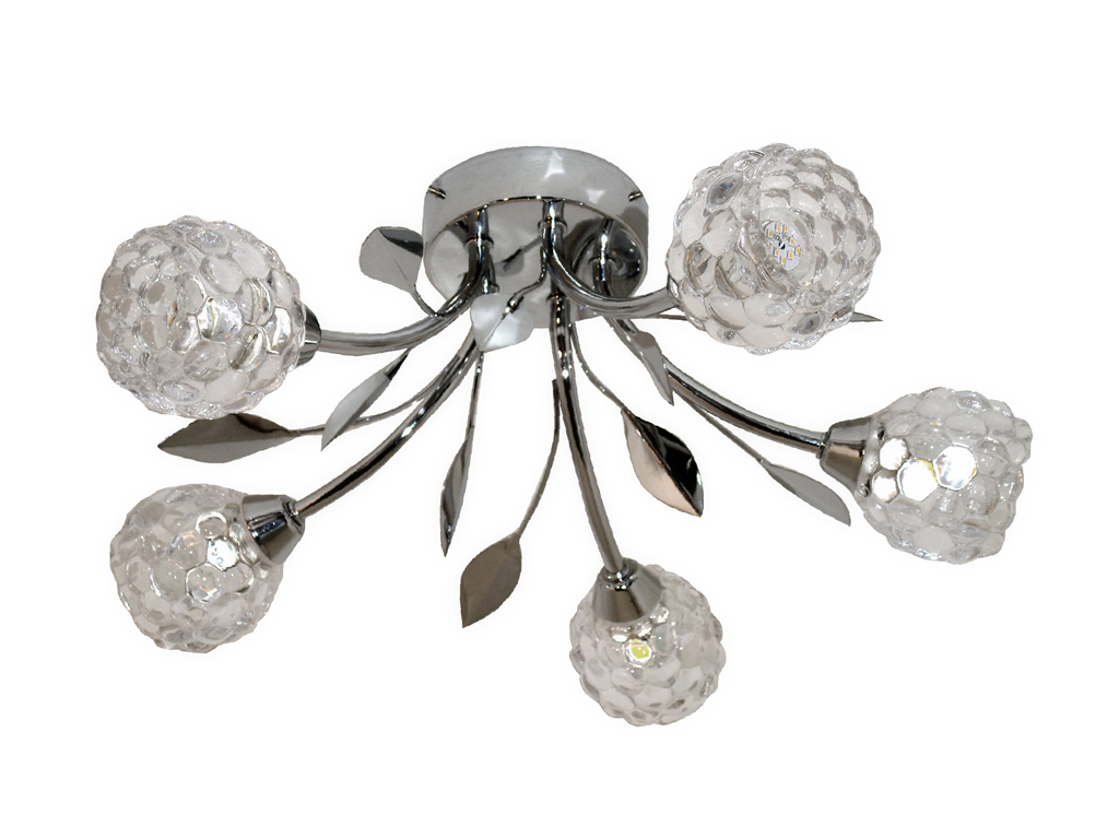 Led ceiling lights nursery : Tp piccadilly covent garden w led chrome glass