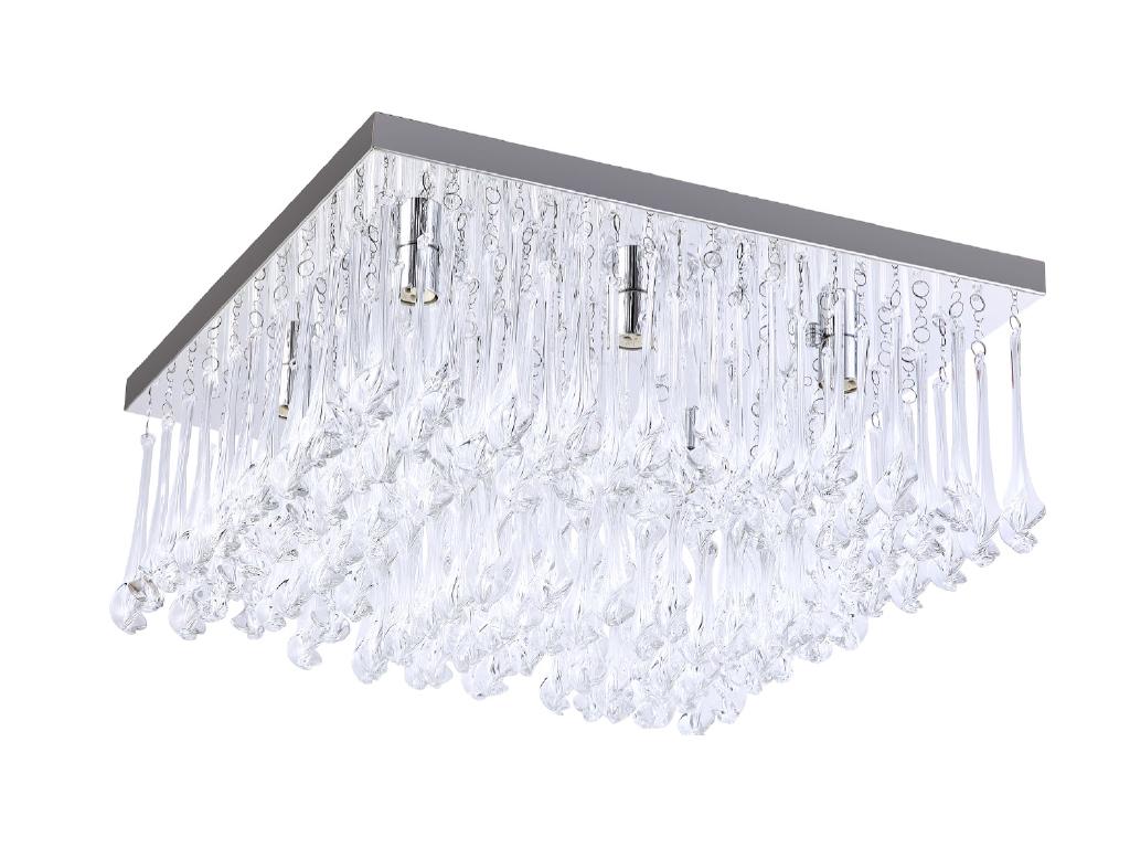 tp24 piccadilly knightsbridge 6x3w led chrome carr cristal lumi re plafond ebay. Black Bedroom Furniture Sets. Home Design Ideas