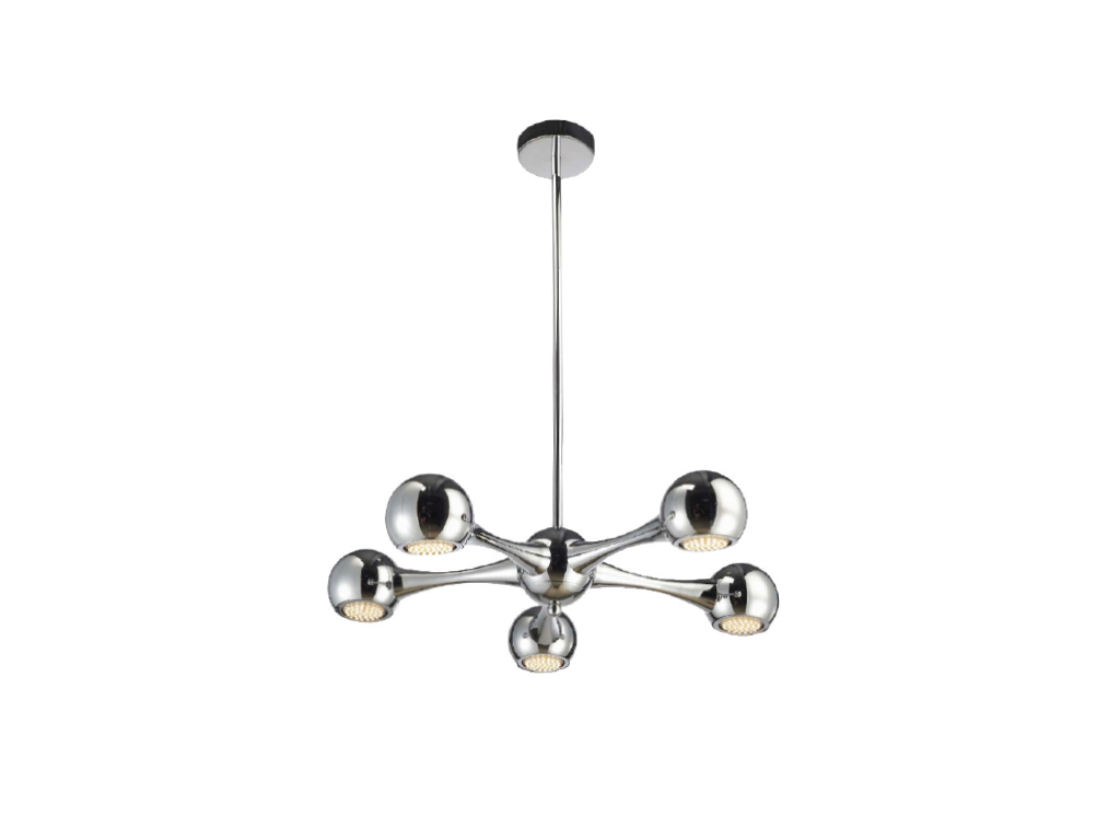tp24 central perivale 5 x 3w g40 led rond lampe plafonnier suspendue chrom. Black Bedroom Furniture Sets. Home Design Ideas