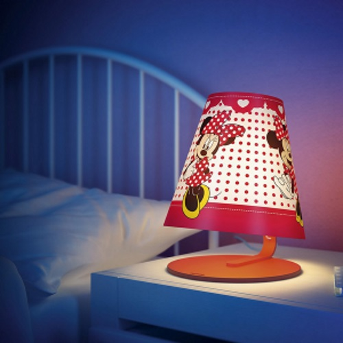 philips disney minnie mouse led table lamp table light red. Black Bedroom Furniture Sets. Home Design Ideas