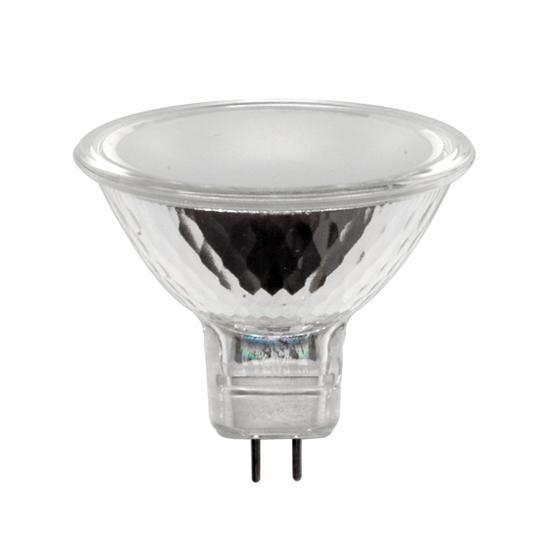 low voltage 12v 50w frosted mr16 gu5 3 30 degree halogen dichroic lamp bulb ebay. Black Bedroom Furniture Sets. Home Design Ideas