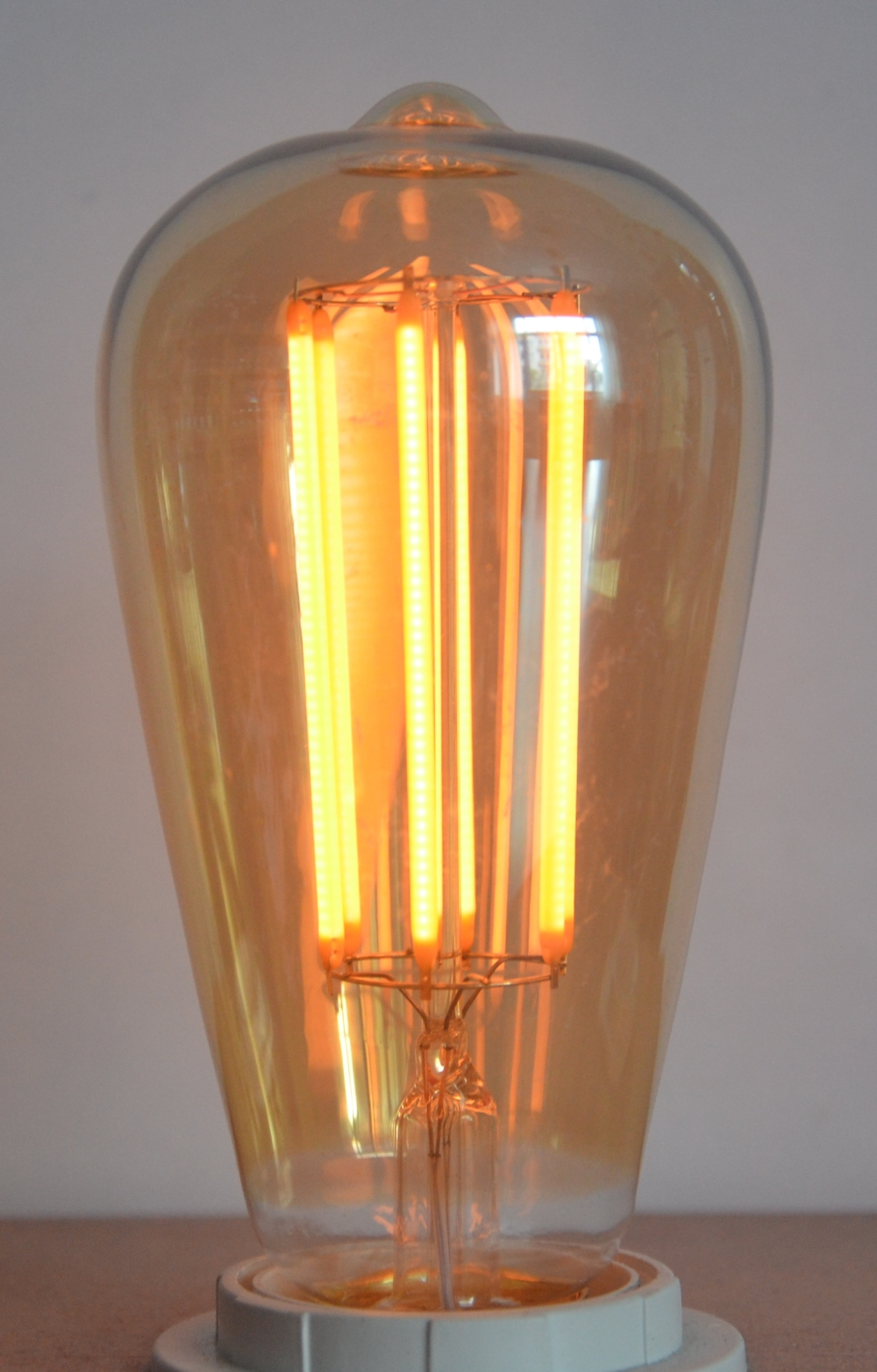 6W LED vintage retro squirrel cage dimmable LED lamp bulb ...