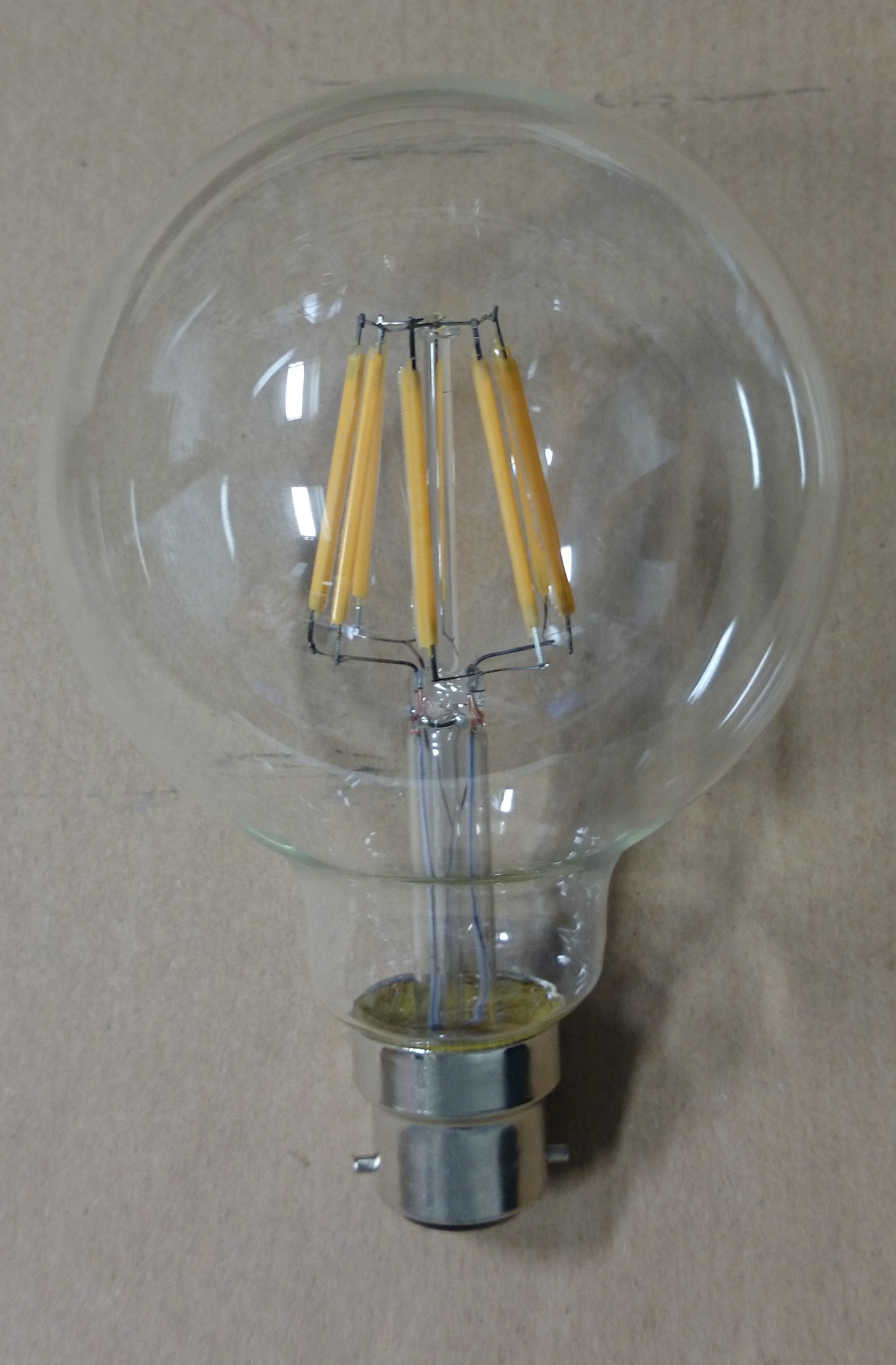 6w Led To Replace Vintage Incandescent G95 Bc B22 Globe Light Bulb Non Dimmable Liminaires