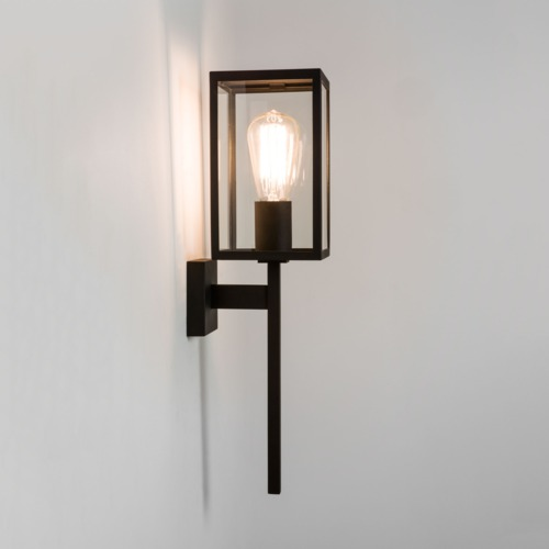 Wall Lamps External : Astro Coach 130 exterior external wall light front porch light 60W E27 black Liminaires