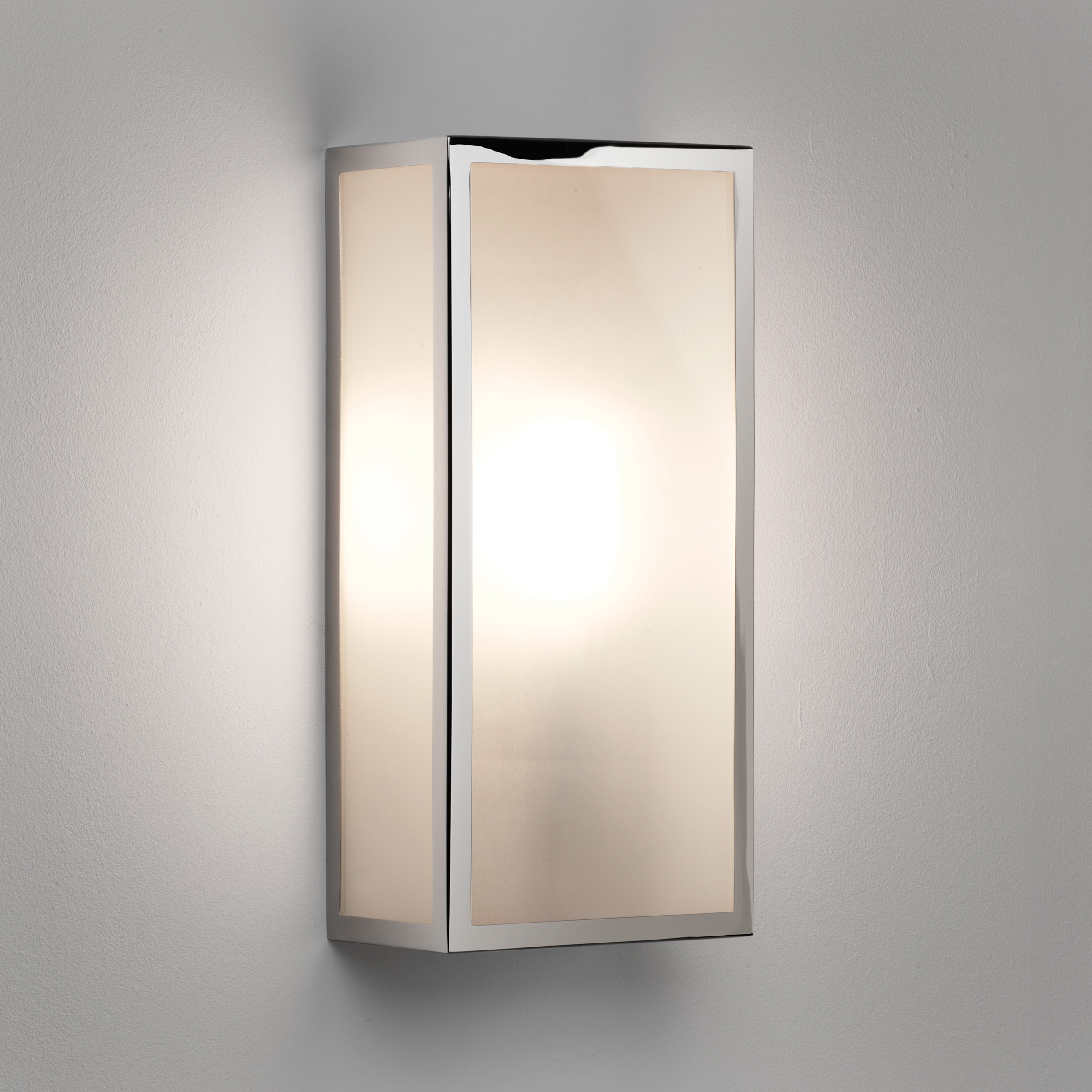 Astro Messina exterior external wall light 60W E27 polished nickel frosted glass eBay