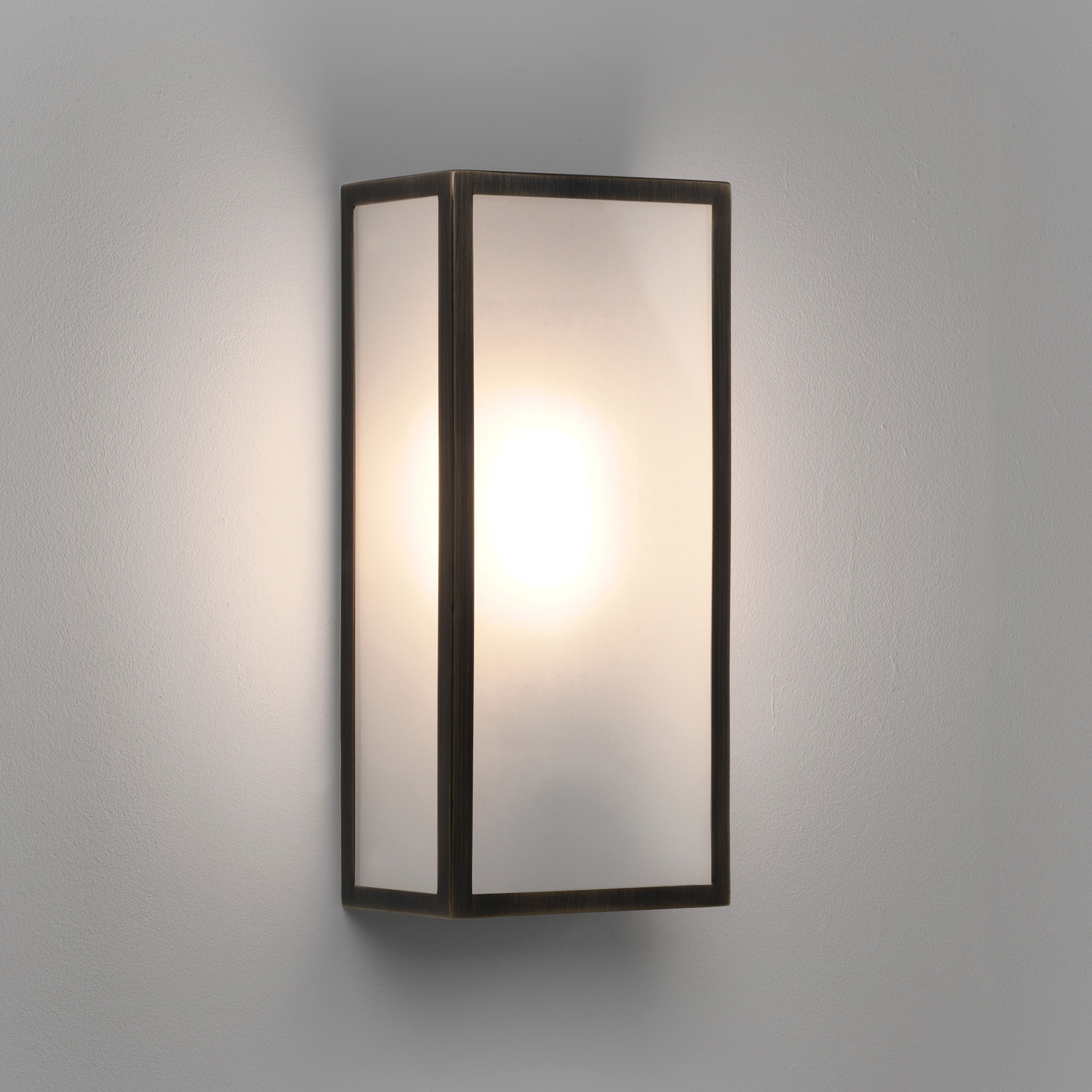 Wall Lamps External : Astro Messina exterior external wall light 60W E27 bronze frosted glass Liminaires