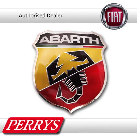 fiat 500 genuine oe 39 abarth 39 front grill badge decal emblem replacement car new. Black Bedroom Furniture Sets. Home Design Ideas