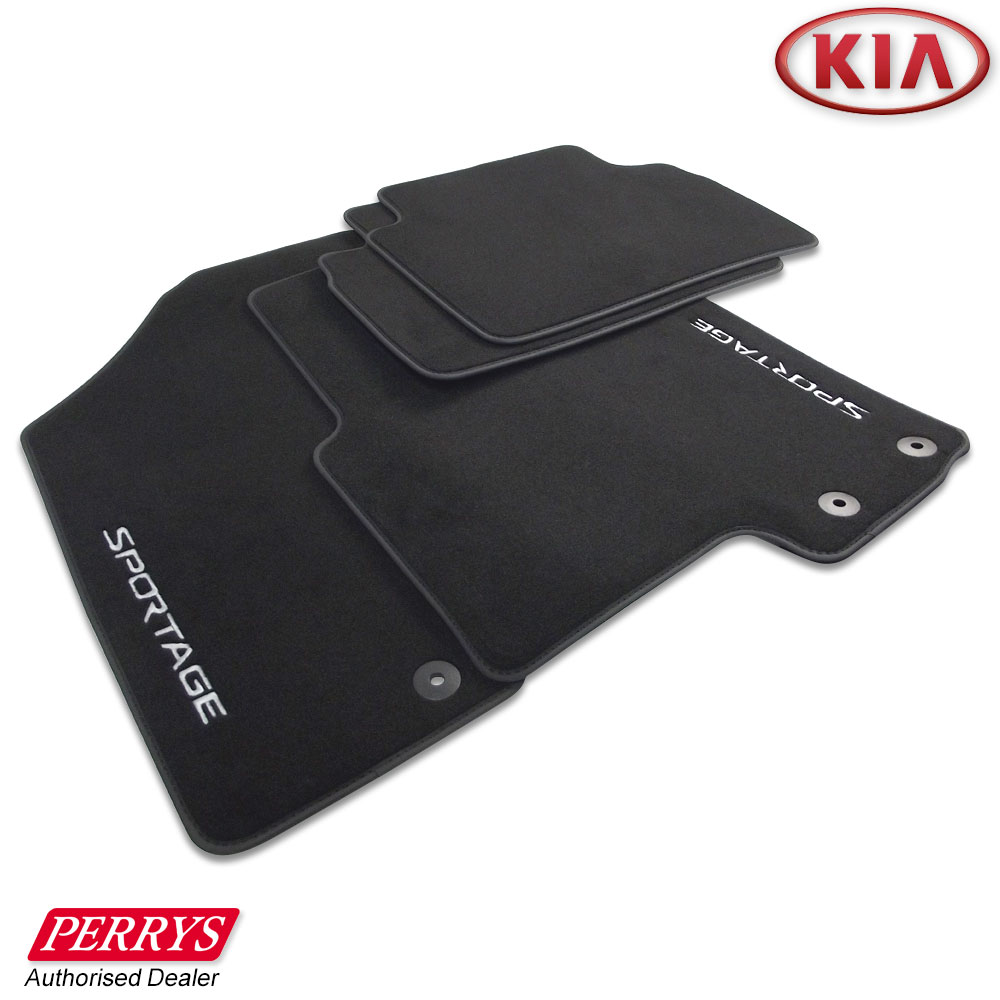 Floor mats kia - Kia Sportage Graphite Velour Carpet Front Rear Car Mats Set Genuine Oe