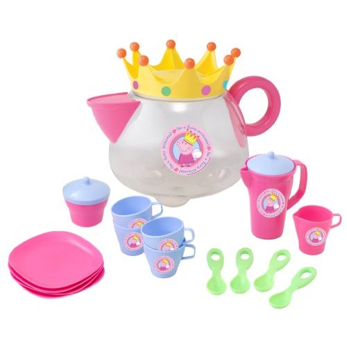 Peppa Pig Teepot Tea Party Picnic Set with Cups Saucers Spoons New