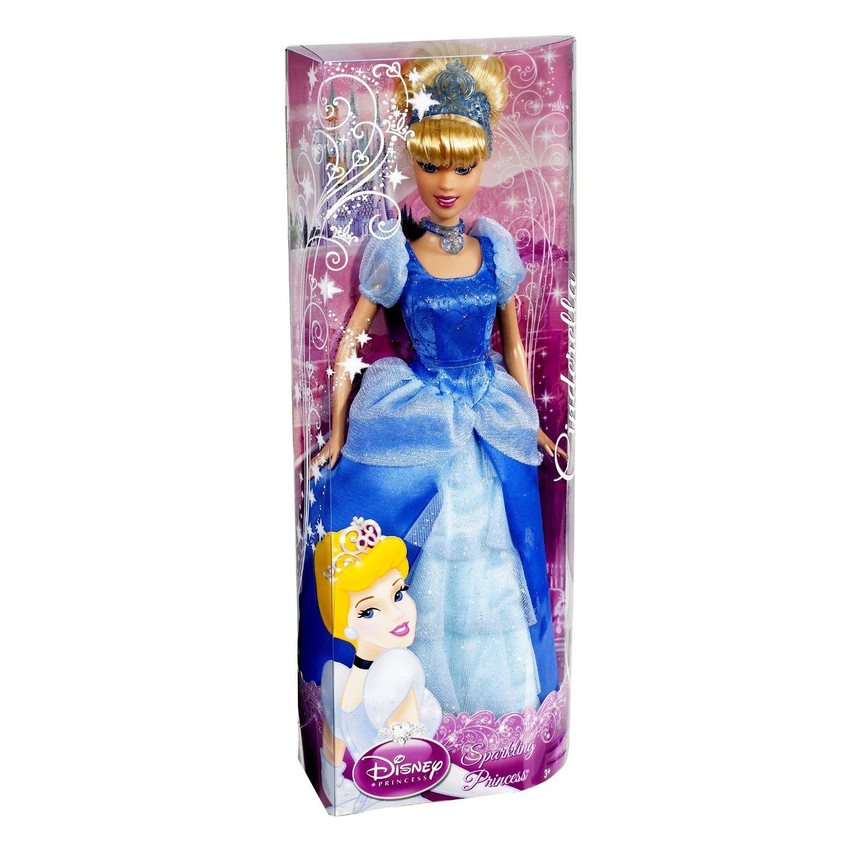 Disney Princess Sparkle Baby Cinderella Doll: Disney Sparkling Glitter Gown Princess Doll Cinderella Toy