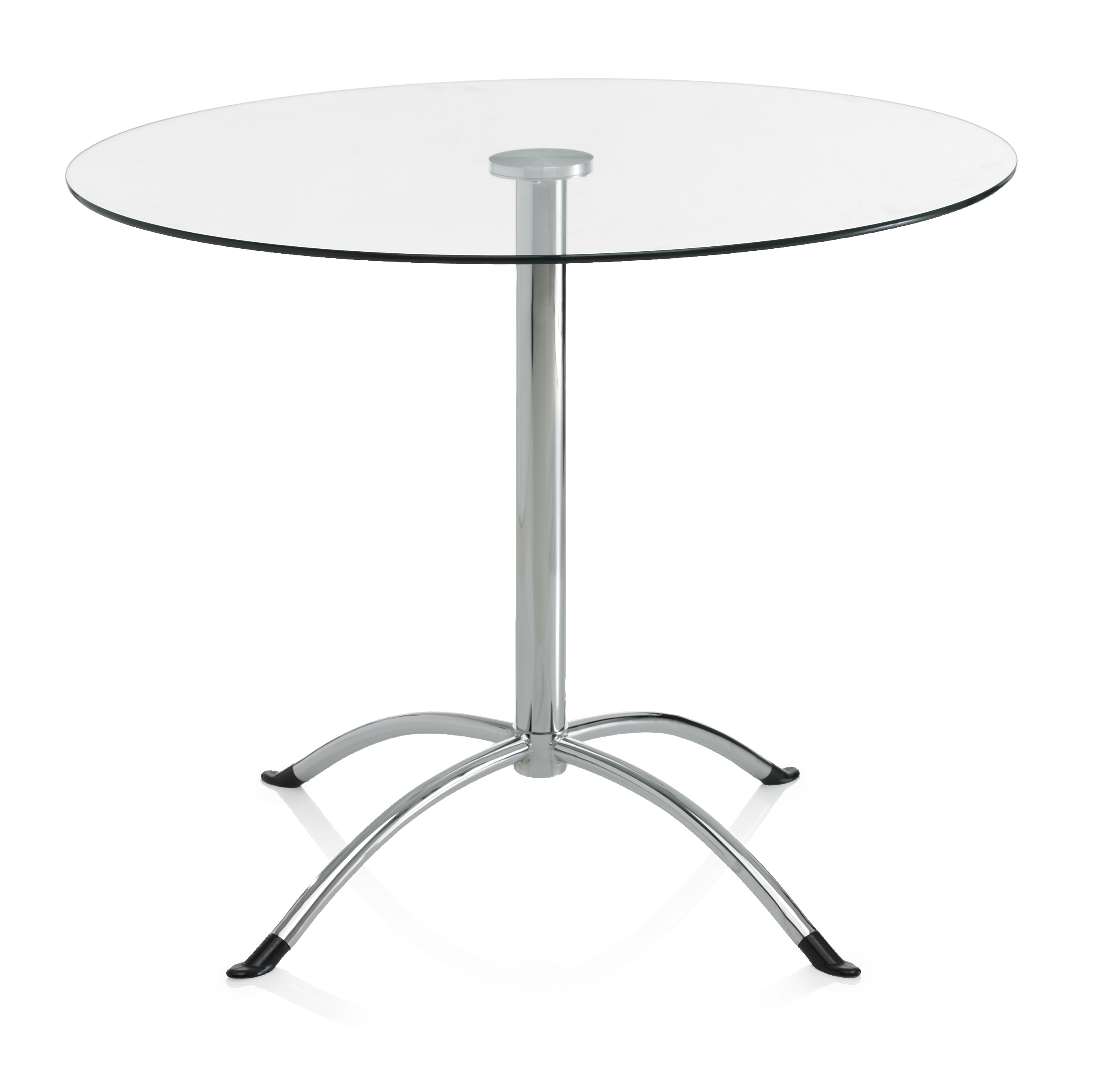 Monza Glass Top Dining Bistro Table Round 4 Seater Kitchen Furniture ...