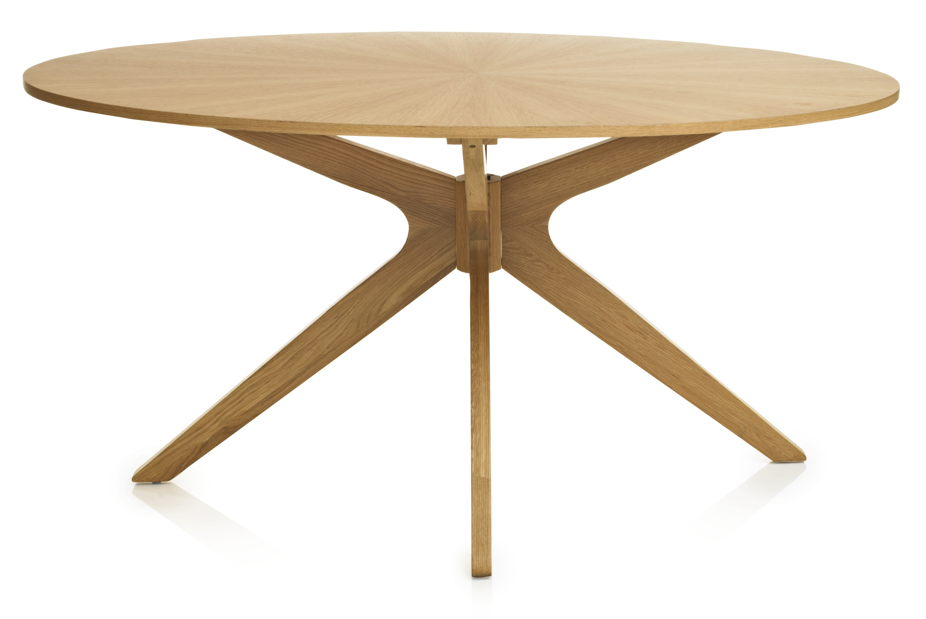 Muirfield Oak Veneer Dining Table Oval 6 Seater Modern Stylish Kitchen