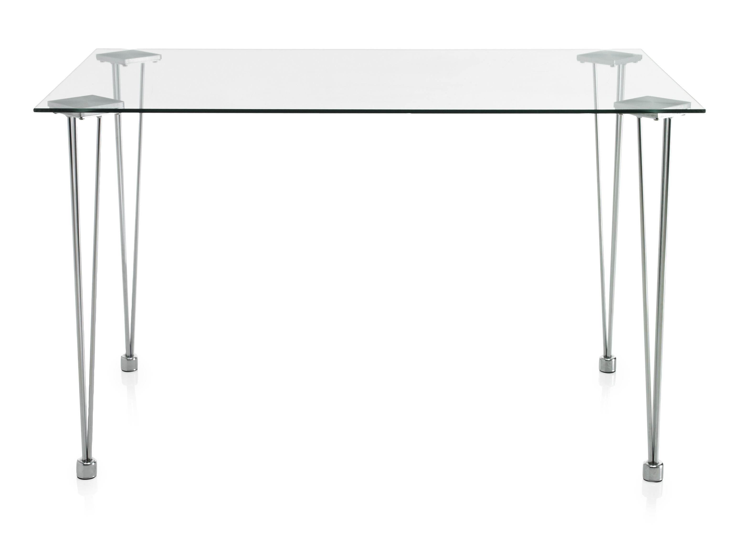 Glass Top Dining Bistro Table Rectangular 6 Seater Kitchen Furniture EBay