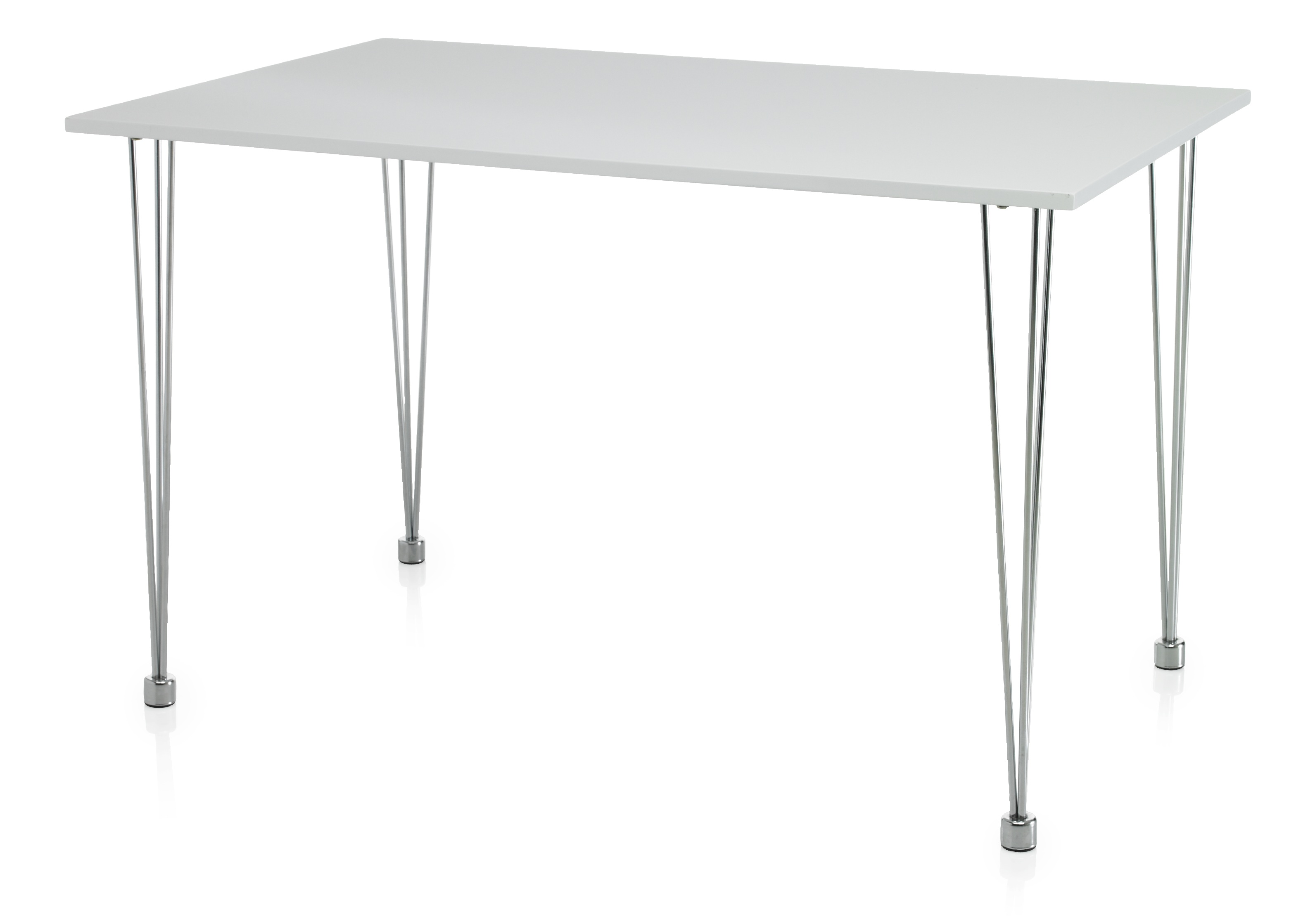 Hi gloss bistro dining table rectangular white 6 seater kitchen furniture ebay - Rectangular dining table for 6 ...