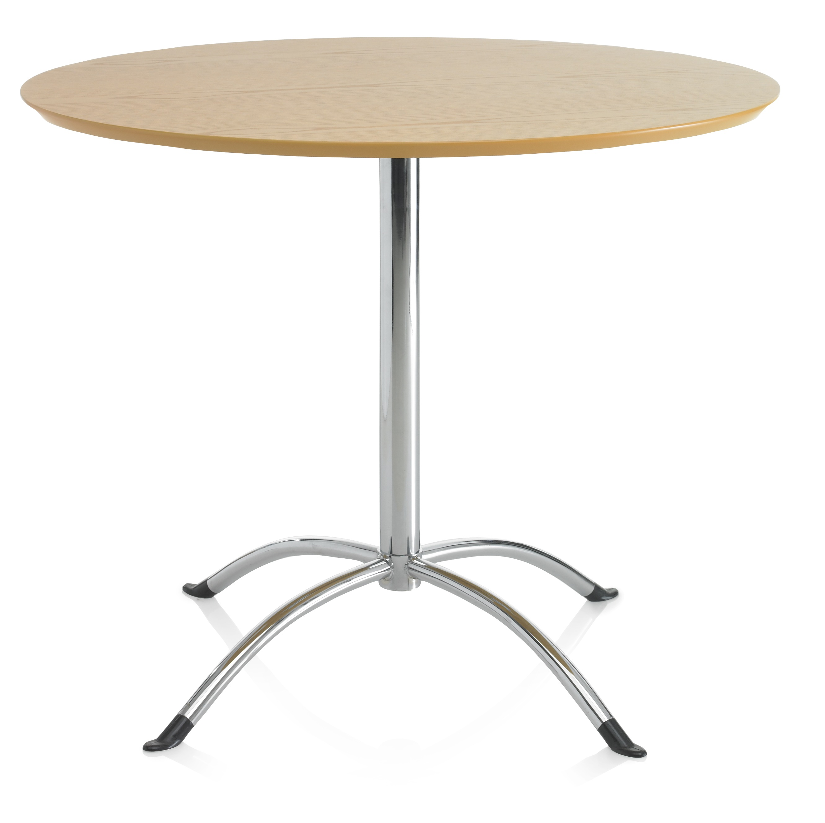 Ash veneer bistro dining table round 4 seater solid kitchen furniture ebay - Seater round dining table ...
