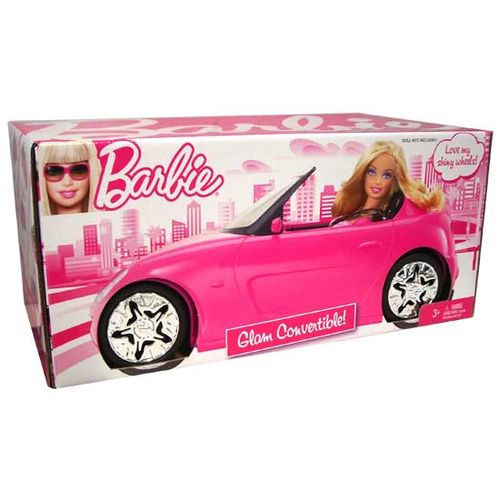 Barbie Glam Auto Convertible Pink Car Toy New