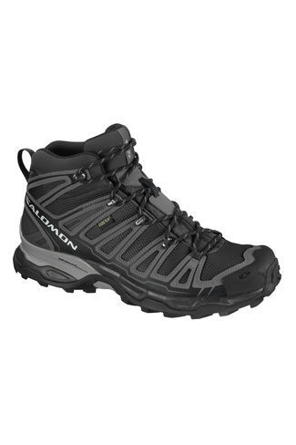 New Salomon Men's X Ultra Mid Gore-Tex Trail Running Trainer Grey Size 7-12.5