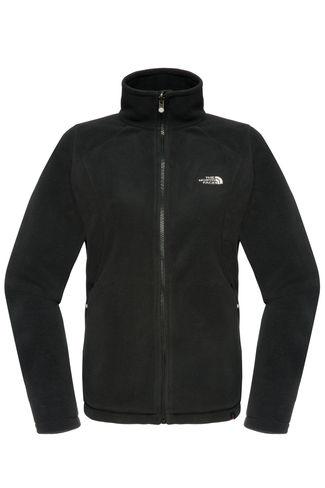 New The North Face Women's 100 Glacier Full Zip Fleece, Black