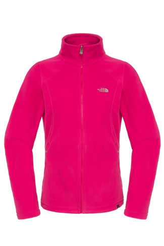 New The North Face Women's 100 Glacier Full Zip Fleece, Pink