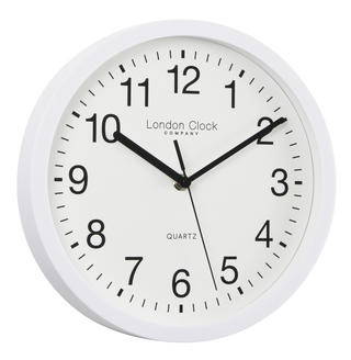 London Clock Company Classic White Arabic Dial Silent Sweep Wall Clock Thumbnail 1