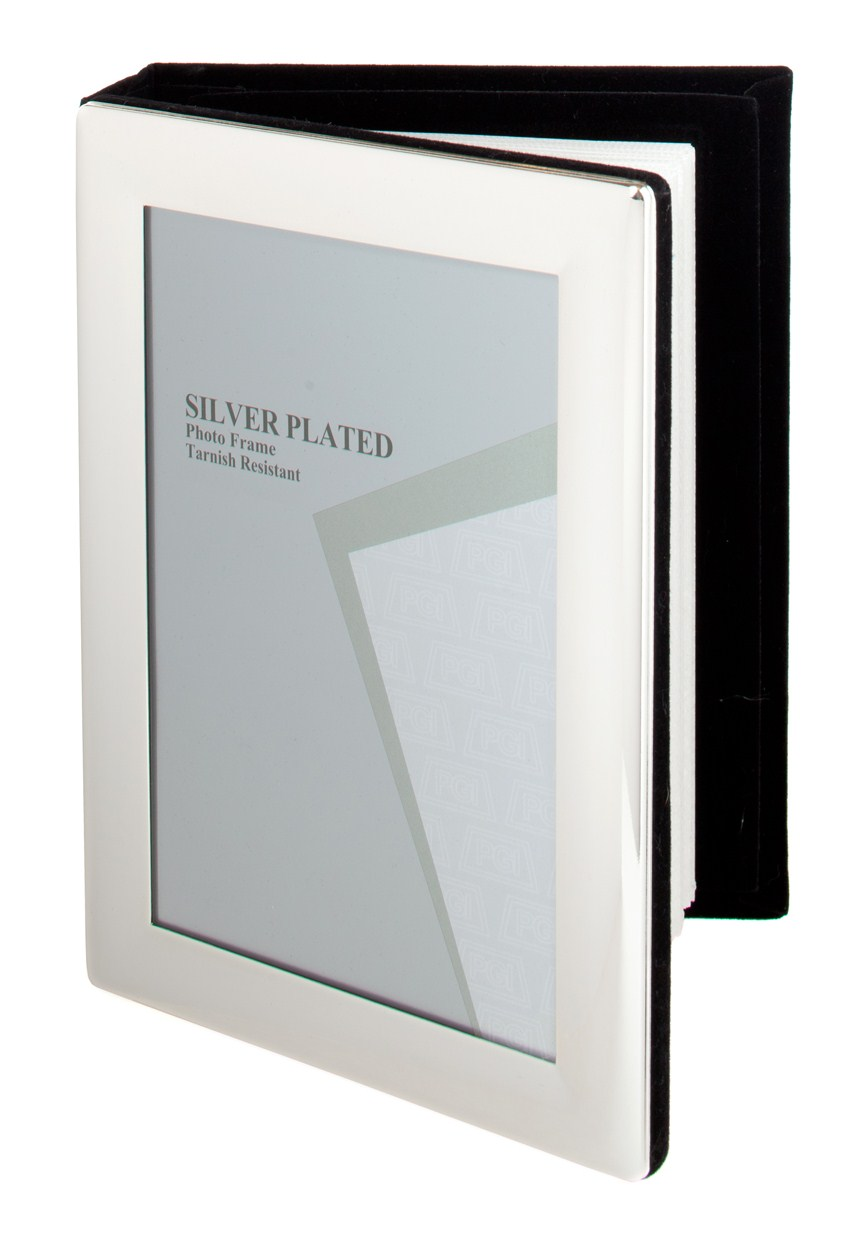SILVER PLATED PICTURE PHOTO FRAME ALBUM 4\