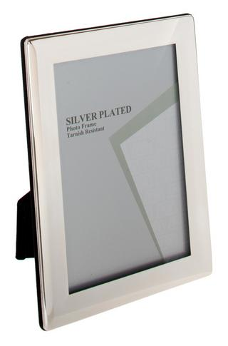 Silver Plated Picture Photo Thick Edge Frame 3.5 X 5, 4 X 6, 5 X 7, 6 X 8, 8 X10 Thumbnail 1