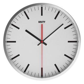 Unity Abberton Silent Sweep Non-Ticking 30Cm Contemporary White Dial Wall Clock Thumbnail 1