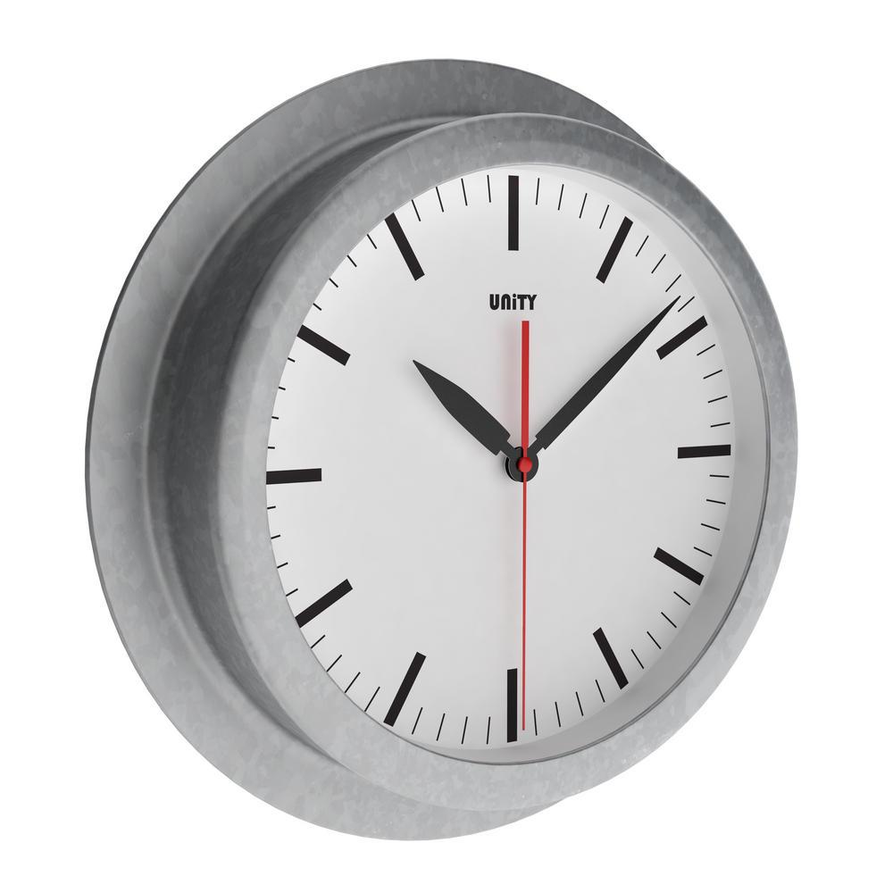 Unity Tidebrook Radio Controlled 23Cm Galvanised Urban Designer Wall Clock