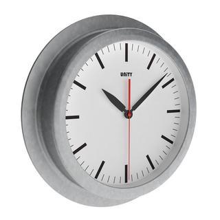Unity Tidebrook Radio Controlled 23Cm Galvanised Urban Designer Wall Clock Thumbnail 1