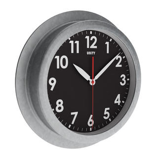 Unity Macduff Radio Controlled 23Cm Galvanised Urban Designer Wall Clock Thumbnail 1