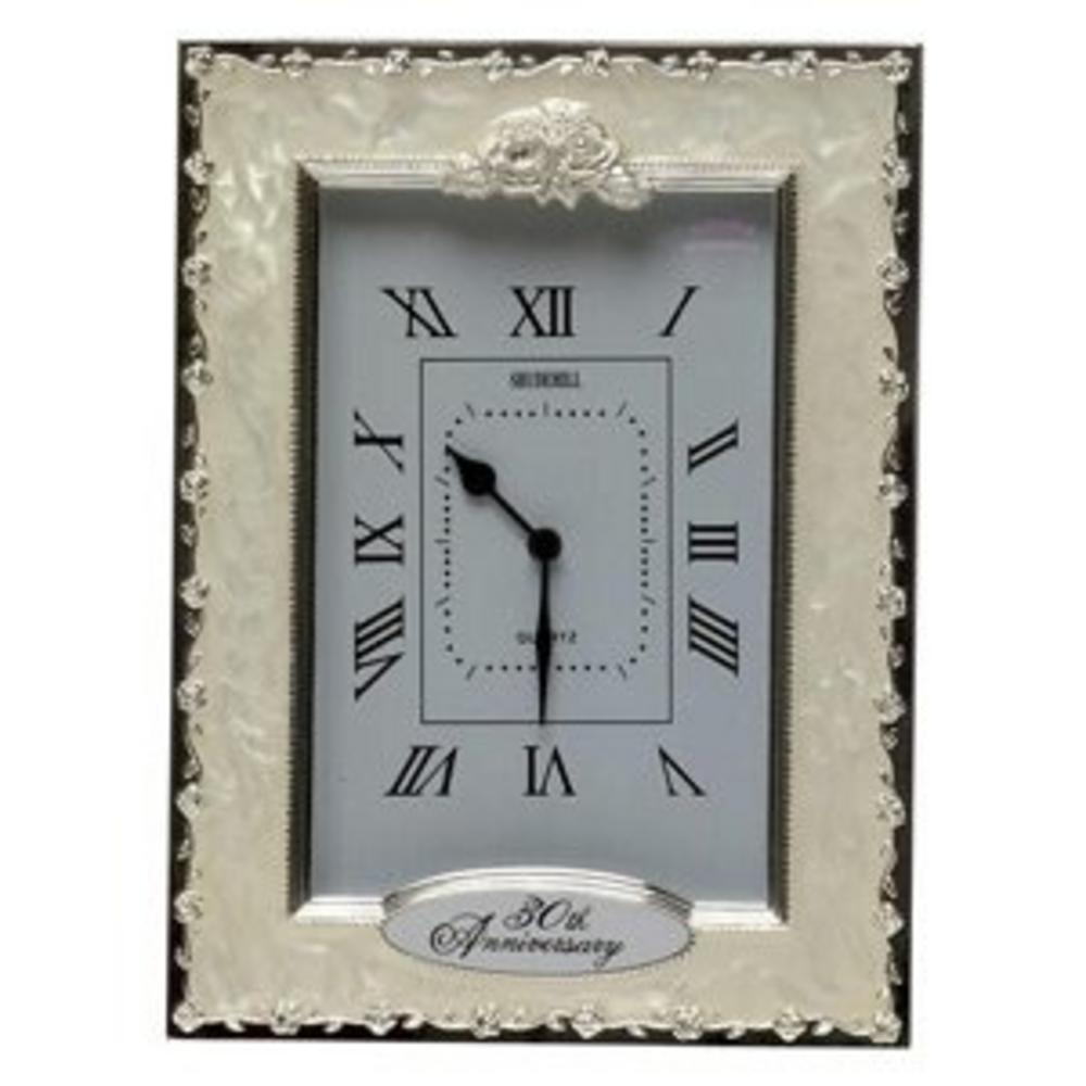 Shudehill Giftware 30Th Pearl Wedding Anniversary Celebration Quartz Clock