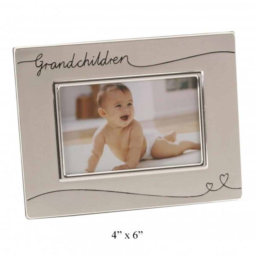 Juliana Two Tone Grandchildren Frame Silver Plated Frame H 17 W 22  D1 Cm Gift