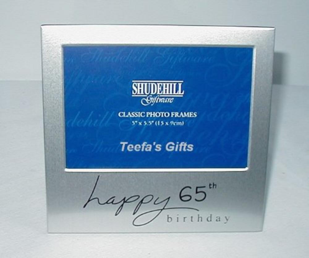 "Shudehill Giftware Picture Photo Frame 65Th Birthday Gift 5"" X 3.5"""