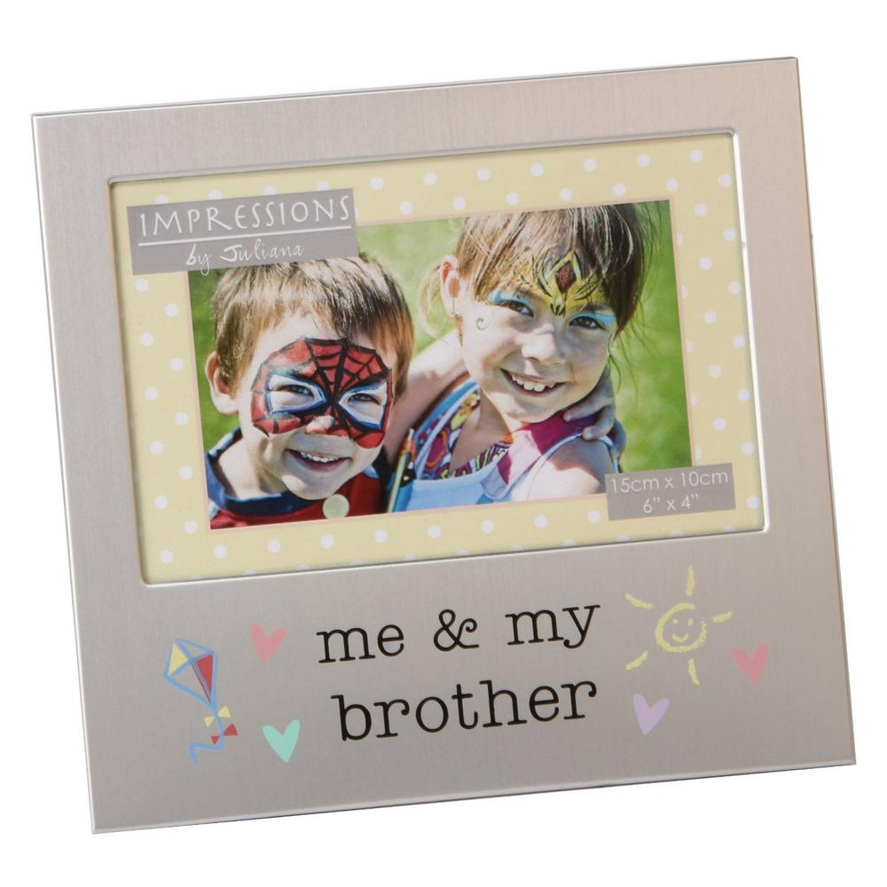 "Juliana Aluminium Photo Frame 6"" X 4"" - Me & My Brother"