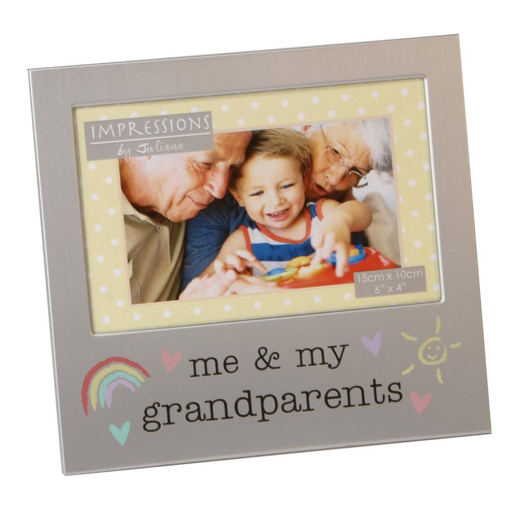 "Juliana Aluminium Photo Frame 6"" X 4"" - Me & My Grandparents"
