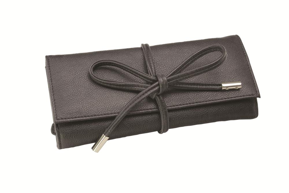 Boutique Black Jewellery Roll Dimensions 27 X 9 Cm Zip Pocket Brand New