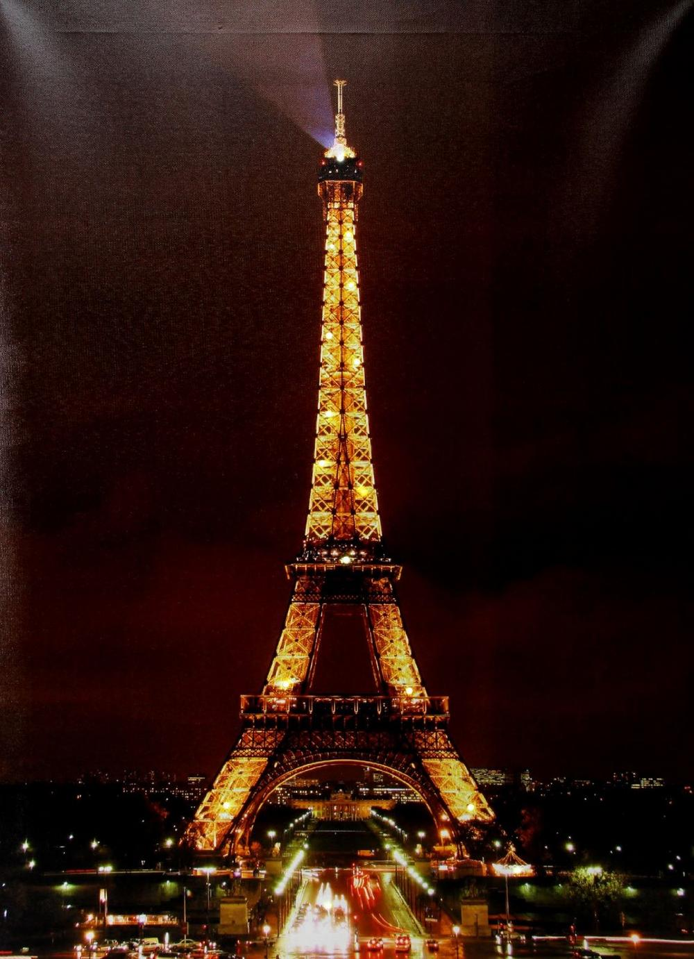 Juliana Home Living Canvas Print With Lights - Eiffel Tower